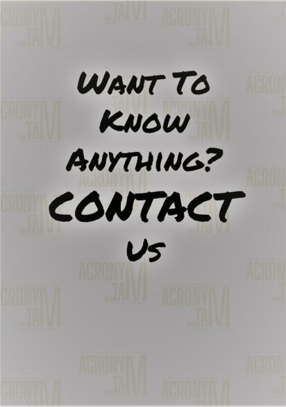 If you would like to know anything, contact us.